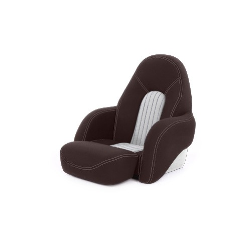 "One place pilot seat ""Navy S""-brown white leather"