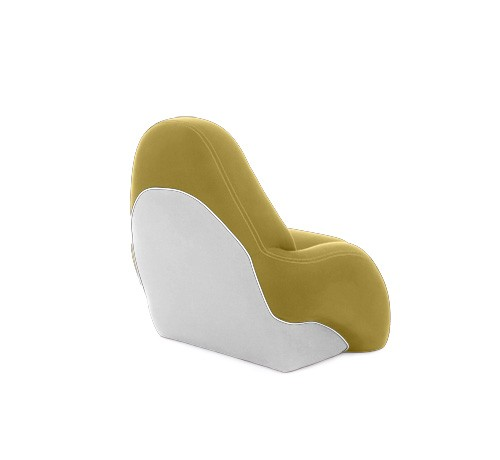 "One place pilot seat ""Navy S""-yellow white leather"