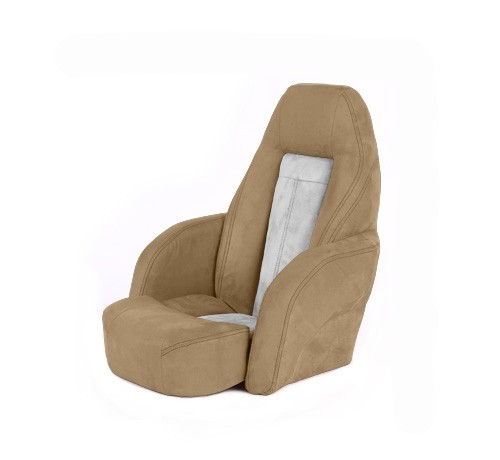 "One place pilot seat ""Norther""-beige white leather"