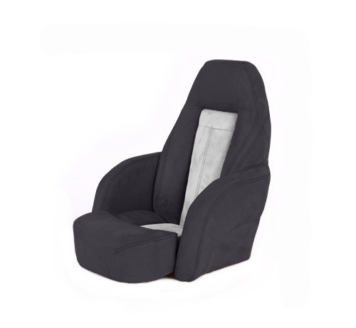 "One place pilot seat ""Norther""-black white leather"