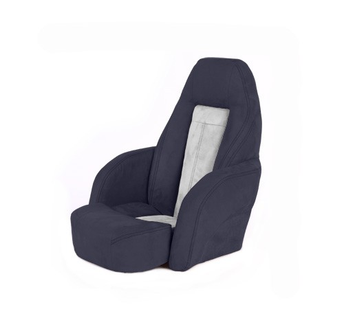 "One place pilot seat ""Norther""-blue white leather"