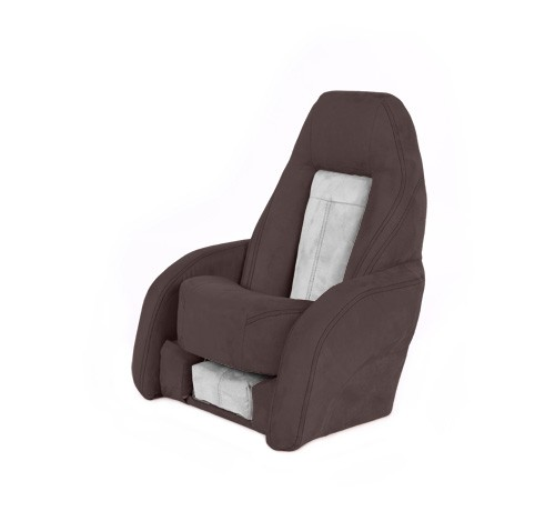 "One place pilot seat ""Norther""-brown white leather"