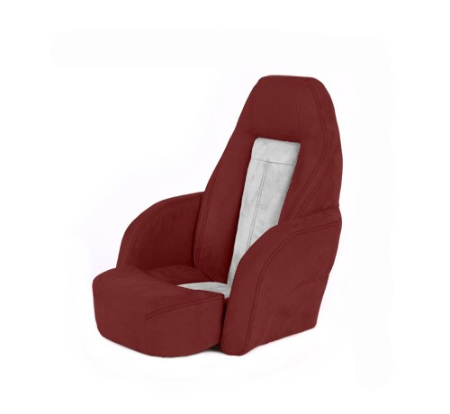 "One place pilot seat ""Norther""-red white leather"