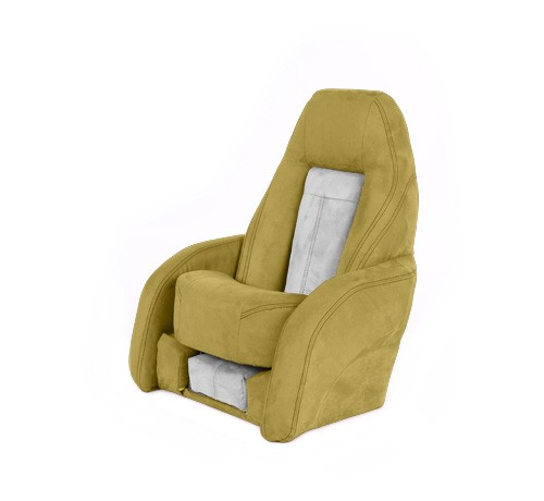 "One place pilot seat ""Norther""-yellow white leather"