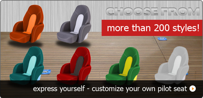 Choose from more than 200 boat seats styles