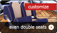 Customize double boat seats