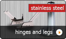 Choose hinges and legs for your own boat seats